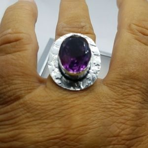 Jewelry - Amethyst 925 Sterling ring